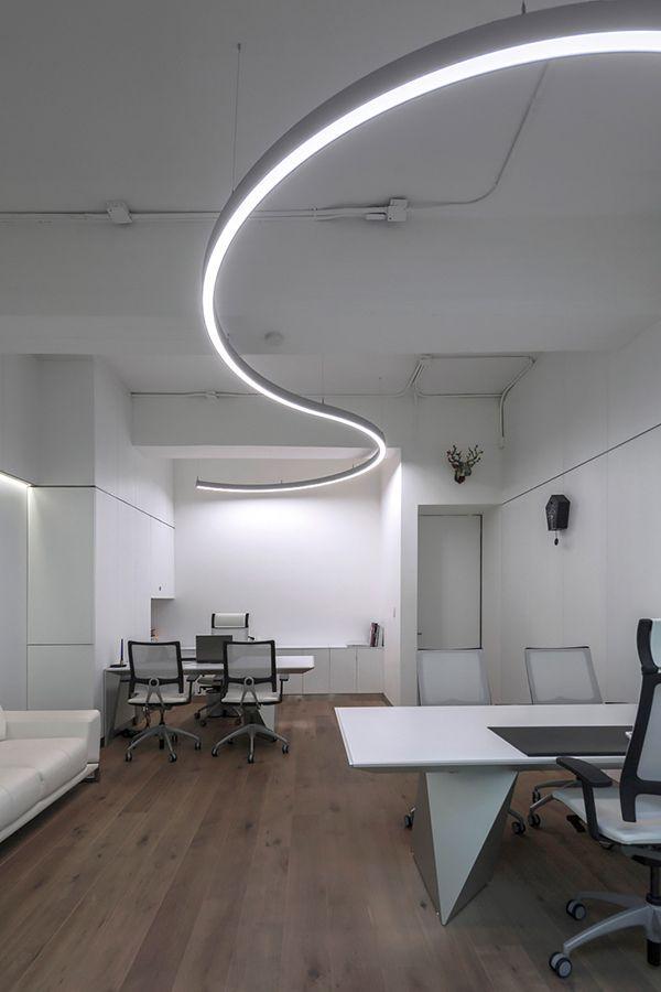 Office Lighting With The Led Pendant Light System Liquid Line Suspended From Lightnet In 2020 Office Lighting Lighting System Room Lights