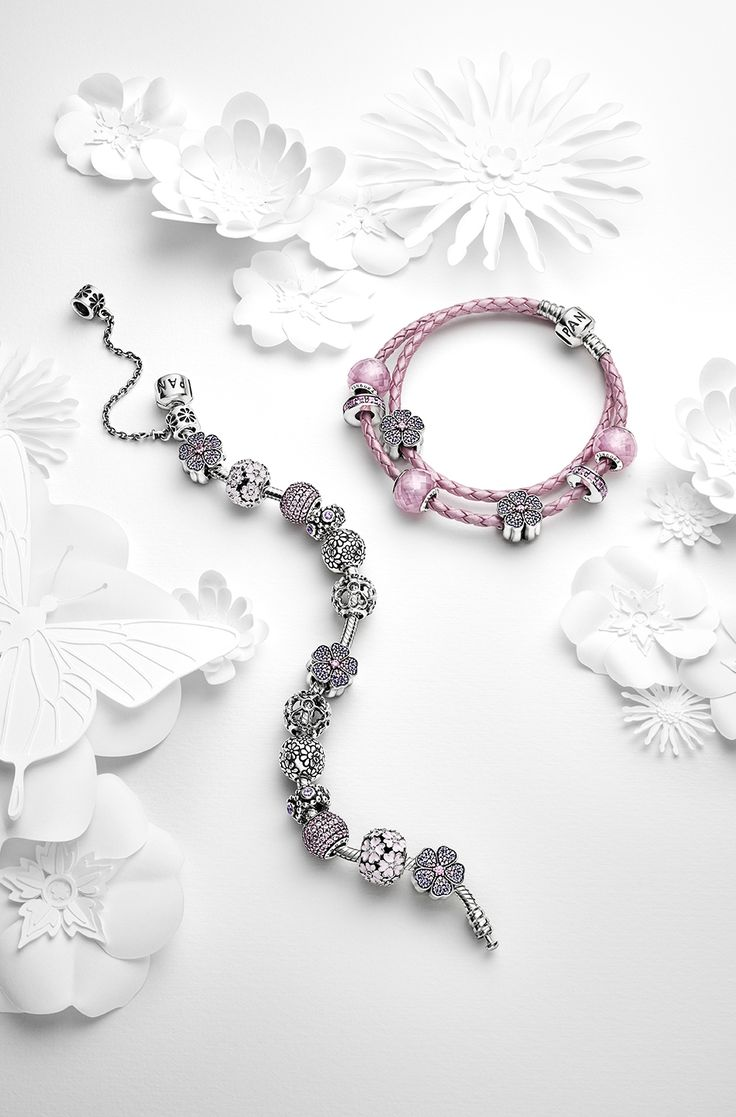 Create amazing blooming bracelet designs with the pretty primrose charms from the PANDORA Spring collection 2015. #PANDORAbracelet #Spring2015