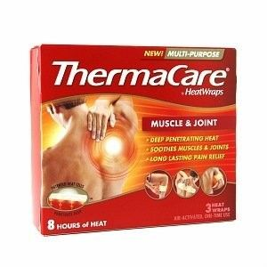 Thermacare Multi-Purpose Muscle Pain Therapy Heatwraps 3 Ct, Multicolor