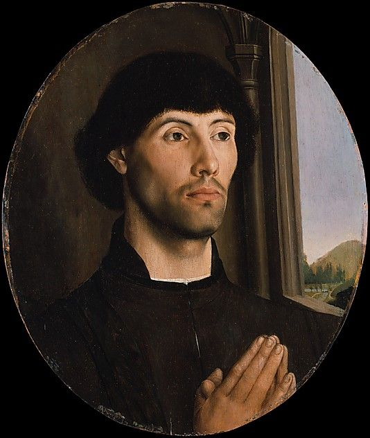 Hugo Van der Goes, Portrait of a Man (Gent, ca. 1475, Metropolitan Museum of Art, New York)