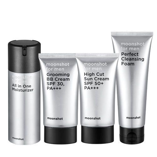 MOONSHOT GD Men Skin Care Full Set Face Cleanser Moisturizer Sun Cream BB Cream #MOONSHOTYGCOSMETIC