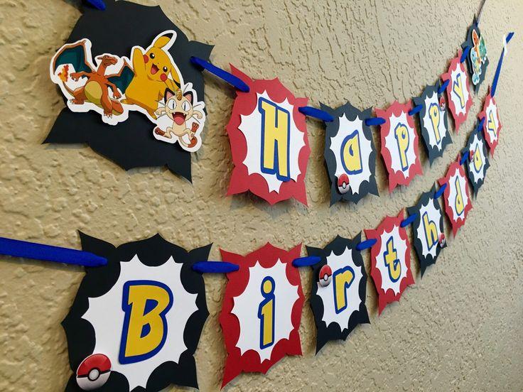 Pokemon Birthday, Pokemon Go, Pokemon Go Birthday, Pokemon Birthday Invitation, Pokemon Birthday Banner, Pokemon Birthday Card, Pokemon by gramspartybanners on Etsy https://www.etsy.com/listing/456715916/pokemon-birthday-pokemon-go-pokemon-go