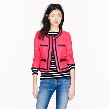 If I weren't long waisted, this would be mine. Lady jacket in double-serge wool - J Crew