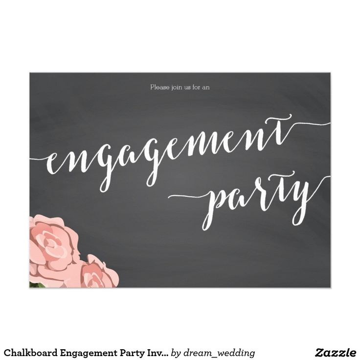 Chalkboard Engagement Party Invitation 44 best INVITATIONS