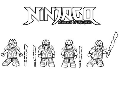 Aneka Gambar Mewarnai - Gambar Mewarnai Ninjago Untuk Anak PAUD dan TK.