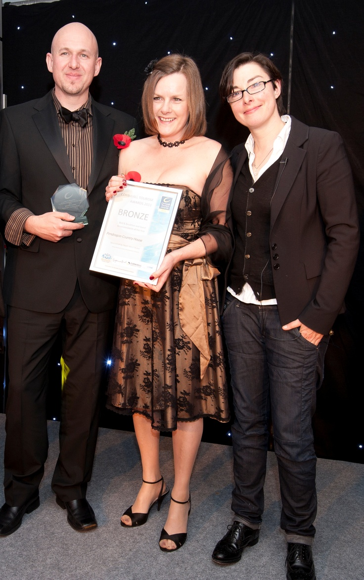 Our first Cornwall tourism award 2011 where we met Sue Perkins, SO funny!