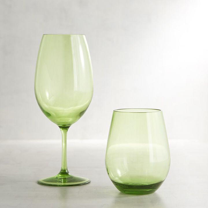 Pier 1 Imports Clarity Green Acrylic Wine Glass