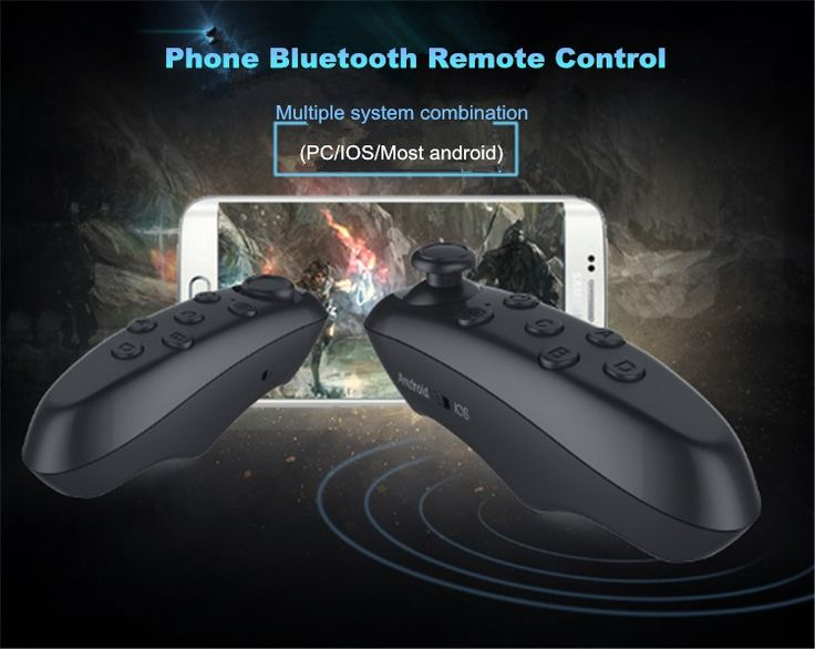 Portable Wireless Bluetooth 3.0 Selfie Shutter TV VR Box Gamepad Remote Controller For iPhone Xiaomi