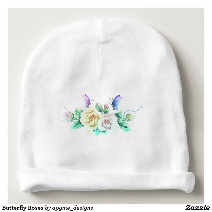 Butterfly Roses Baby Beanie