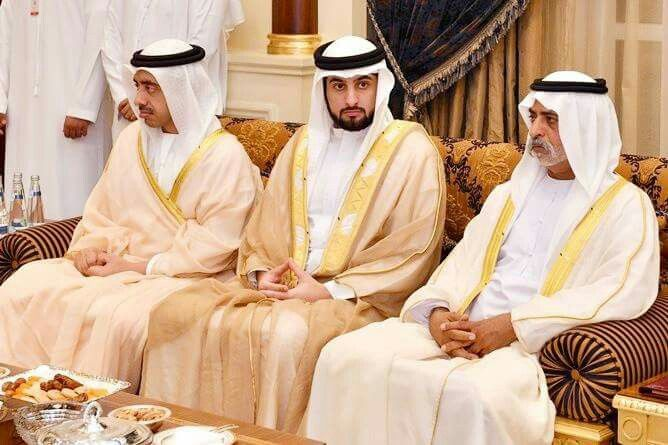 On October 9, 2016, Sheikh Mohammed, Prince Fazza and Sheikh Ahmed; along with Sheikh Saif bin Zayed Al Nahyan, Sheikh Mansour bin Zayed Al Nahyan and Sheikh Abdullah bin Zayed Al Nahyan; welcomed new ambassadors to the UAE during a reception they hosted for them at Al Mushrif Palace in Abu Dhabi.