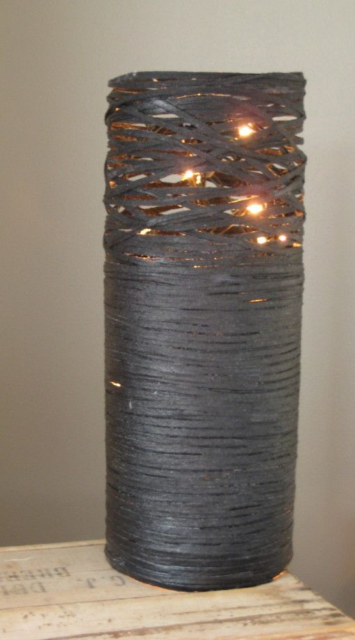 instructions on how to make this funky lamp shade
