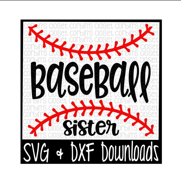 Baseball Sister SVG Cut File - DXF & SVG Files - Silhouette Cameo, Cricut by CorbinsSVGCuts
