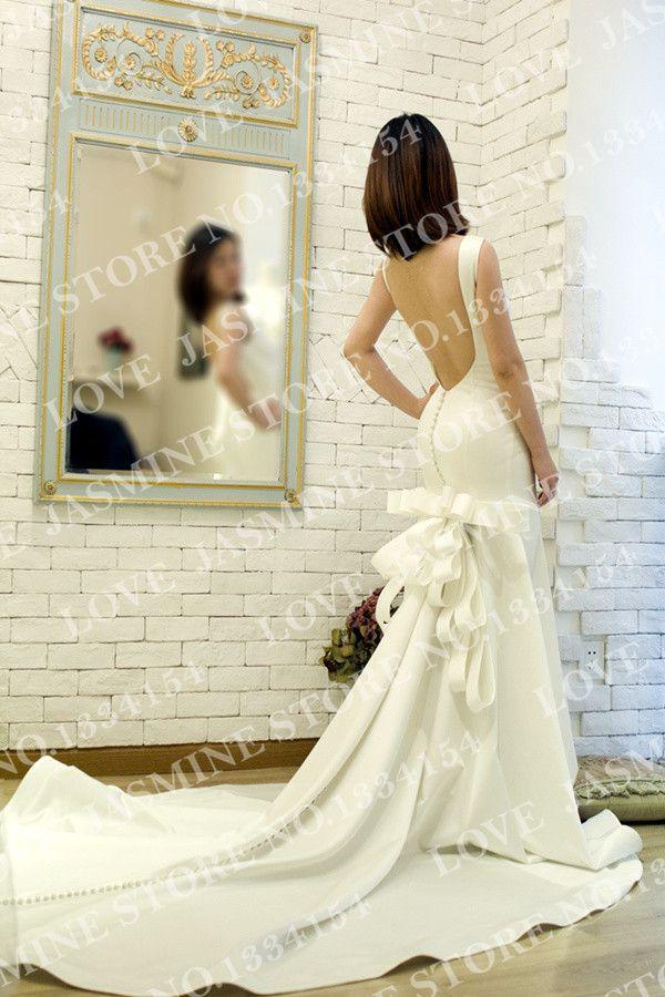 Купить товарСкидка   в 2014, В новый большой сексуальное спинки контракт импорт атласная невесты свадьба платья в категории Свадебные платьяна AliExpress.          Добро пожаловать в любви жасмин платье магазин     Мы приветствуем каждого клиента искренне, запрос или покупки