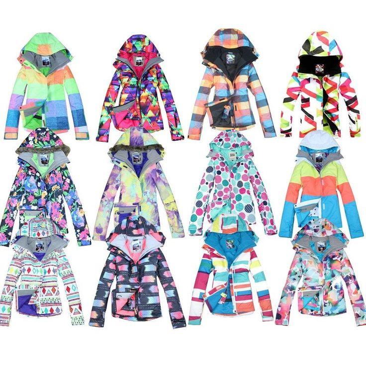 Gsou snow 2015 New Ladies Women's ski snowboard jacket snow Coat size XS S M L   #Gsousnow #SkiJackets #Outdoor