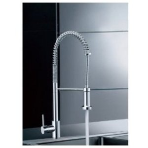 $98 Amazon.com: LightInTheBox Single Handle Pull Down Pre-rinse Spring Kitchen Faucet with Swivel Spouts, Chrome: Home Improvement
