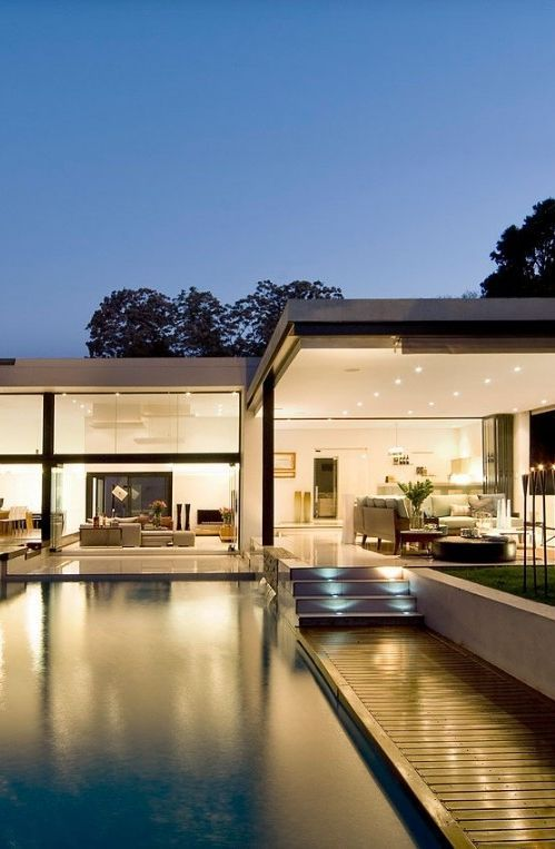 147 best Pool images on Pinterest Houses with pools, Modern - moderne gartengestaltung mit pool