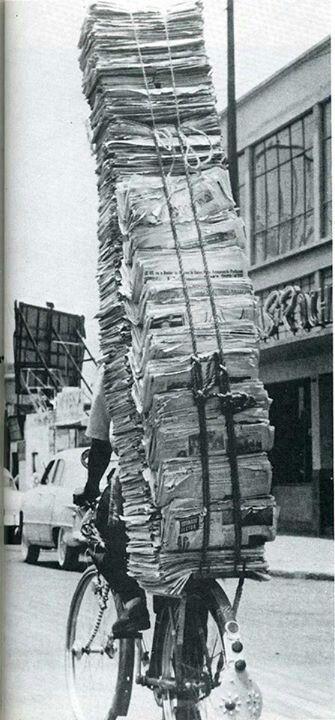 Sandra heeft een krantenwijk