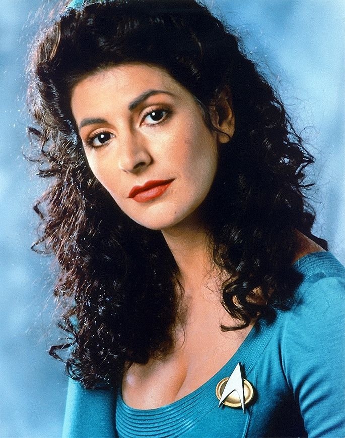 Marina Sirtis as Deanna Troi in Star Trek The Next Generation