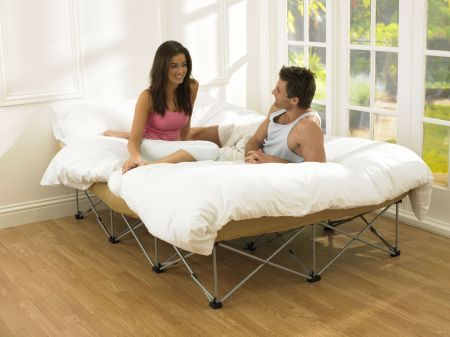 Sleep Secrets The Anywhere Folding Guest Bed 4ft6 Double Beds and Mattresses - Quality Furniture Online - Quick Delivery