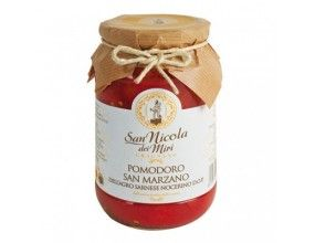 SAN MARZANO TOMATOES PRESERVE DOP CERTIFICATES   Perhaps the most famous Italian tomato variety in the world, the original San Marzano bathes in the sun of Salerno's countryside until it's handpicked, blanched, peeled and jarred by the guys at San Nicola dei Miri; according to a process which feels like home. Both sweet and sourish, it embodies the archetype of sauce tomato.