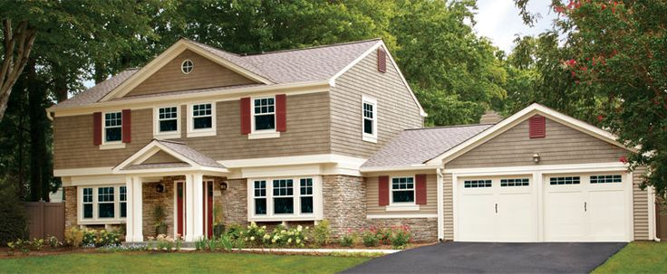 Attached Gable Roof Carriage Doors Google Search Front