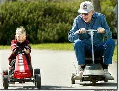 8) Senior Citizen's Day. old vs young
