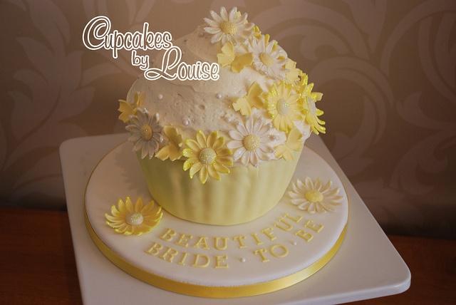 Bridal shower giant cupcake