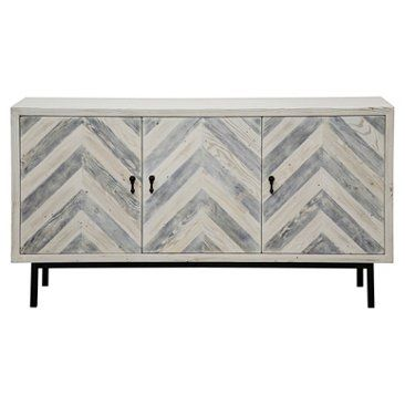 """Check out this item at One Kings Lane! Chevron 60"""" Sideboard, Graywash"""