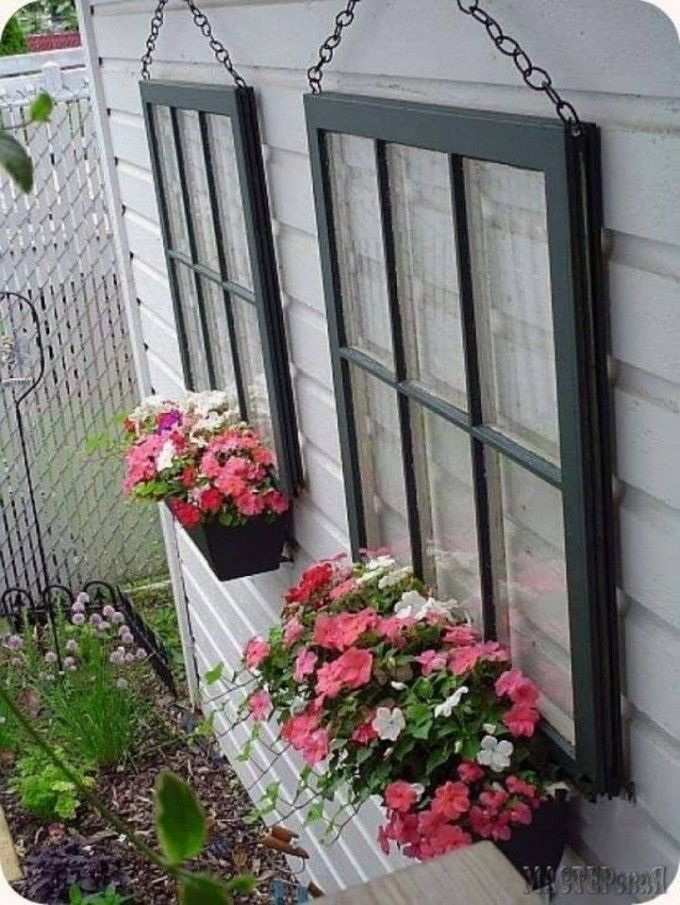Hanging Window Planters...these are the BEST Garden DIY Yard Ideas!