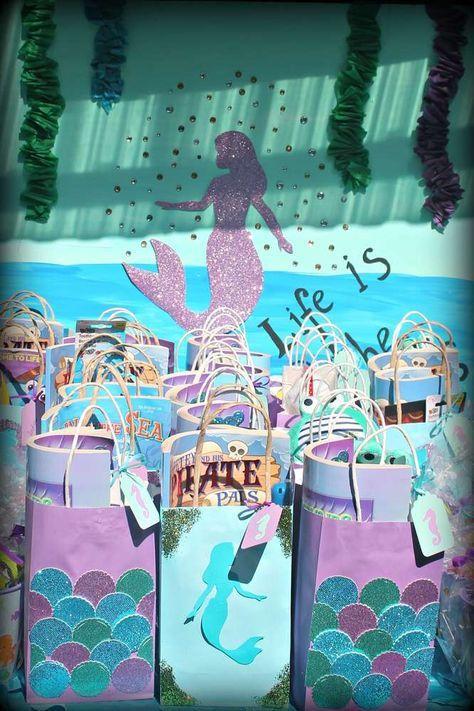Mermaids, Ariel, pirates Birthday Party Ideas   Photo 1 of 38