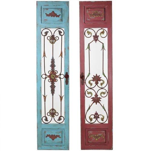 Wrought Iron Wall Decor Wood Panel