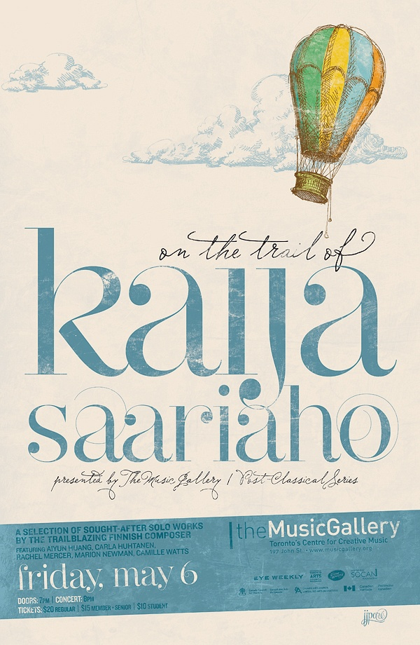 On the Trail of Kaija Saariaho • Music Gallery poster • designed by jjparé • jjpare.tumblr.com