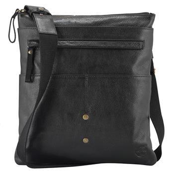 Timberland - Sacoche Cuir Tolland Travel Bag Homme - Noir