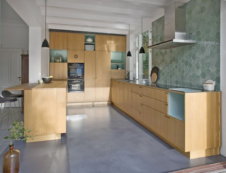 Designgulv i køkken