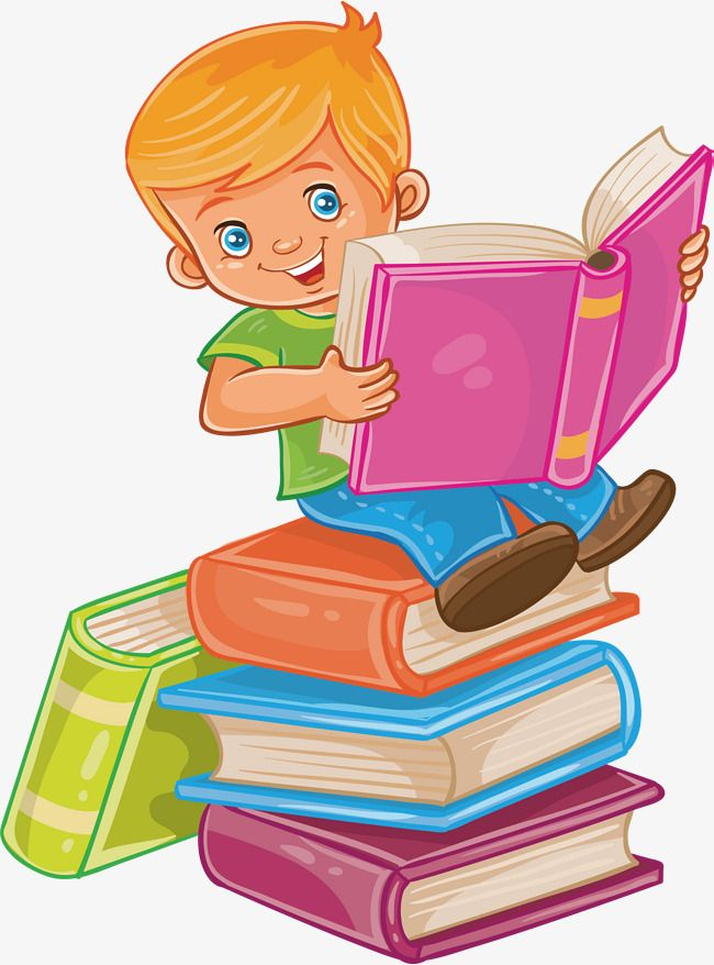 Sit In A Book Read A Book Vector Png Lovely Children