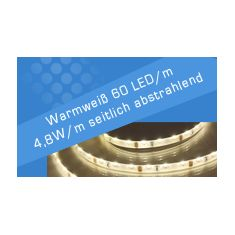 LED Streifen Warmweiß 60 LED/m se