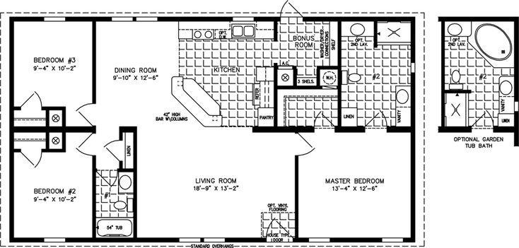 The Imperial Imp 44813b Manufactured Home Floor Plan