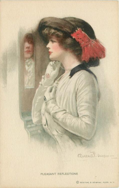 Artist Signed Clarence Underwood 1915 Pretty Woman Vintage Postcard | eBay