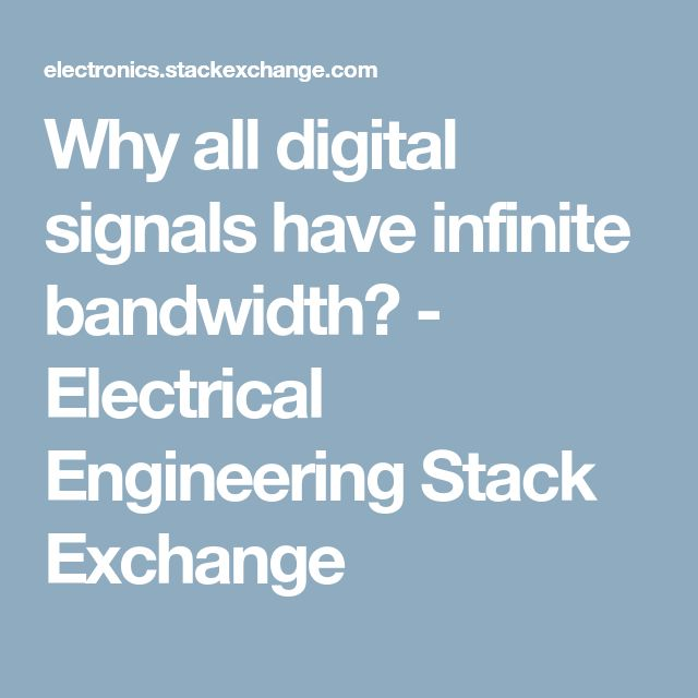 Why all digital signals have infinite bandwidth? - Electrical Engineering Stack Exchange