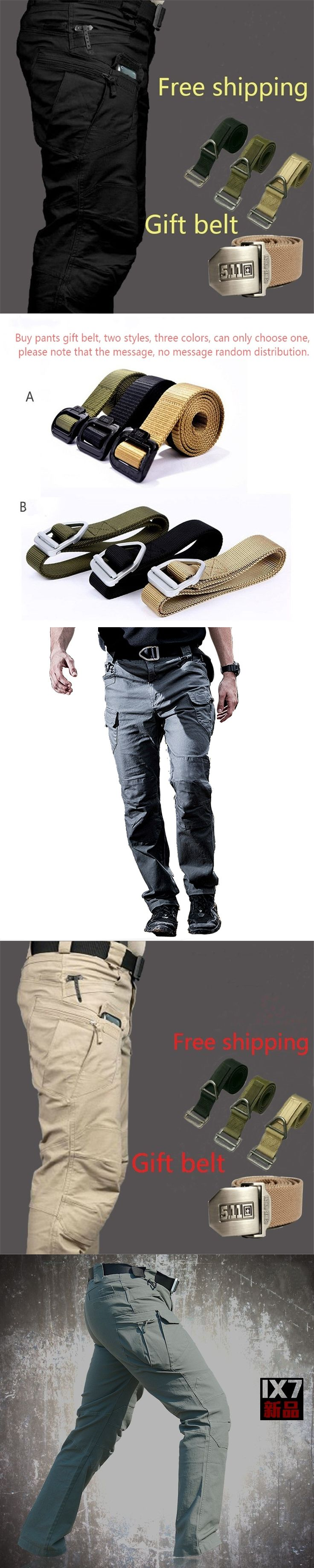 IX7 IX9 Man City Tactical Cargo Pants Combat SWAT Army Military Cotton Many Pockets Stretch Flexible Casual Trousers