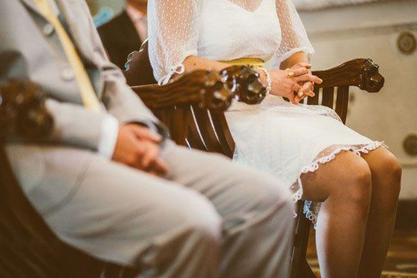 Matrimonio giallo a pois