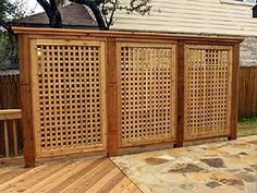 Outdoor Privacy Panels Screens | outdoor privacy panels and privacy screens | Redwood Lattice & Cedar ...