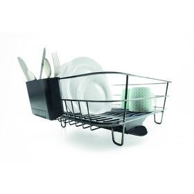 Large Chrome Dish Rack - Black