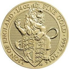 A new type of coin issued in honor of the Monarchy. 25 £, Gold, 999, The Lion, Great Britain. The Lion is the first issue. 2017 will be the year of The Griffin.