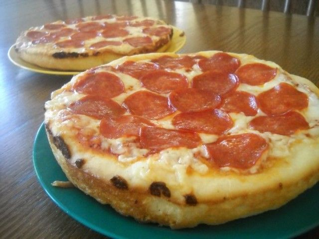 Pizza Hut Personal pans!!! -- Another pinner says: This is THE best homemade pizza I've ever eaten!!