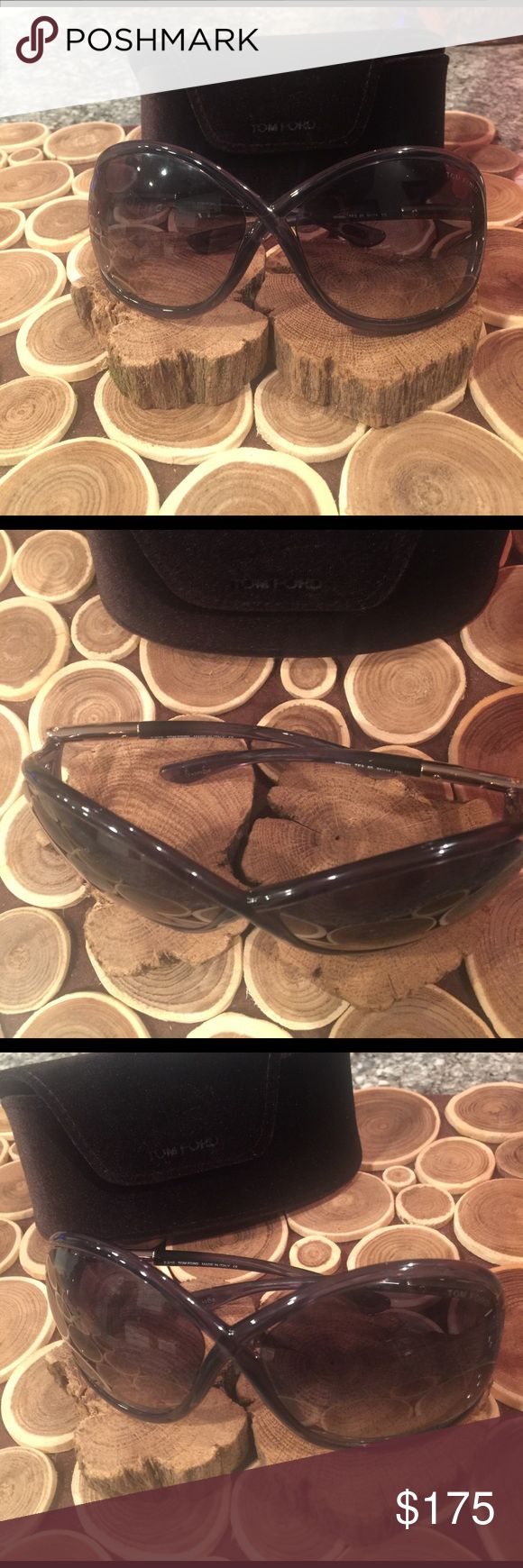 Tom ford Whitney sunglasses Authentic Tom ford sunglasses, never worn, perfect condition... these are the Whitney tom fords it is the blueish grayish it is just the reflection of the wood Tom Ford Accessories Sunglasses