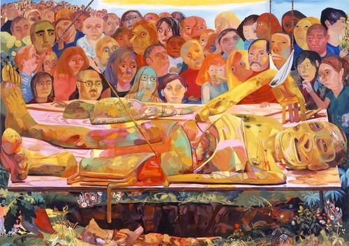 Dana Schutz. Presentation. 2005 via MoMA Fractional and promised gift of Michael and Judy Ovitz. © 2012 Dana Schutz