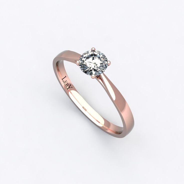 Bague tres fine or rose