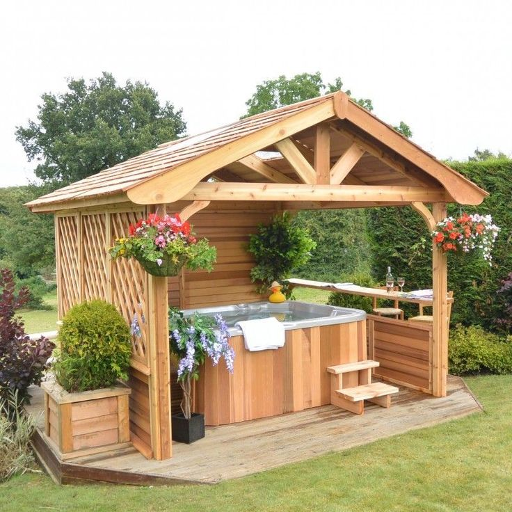 60 stylish backyard hot tubs decoration ideas 19 d co for Protection facade exterieure