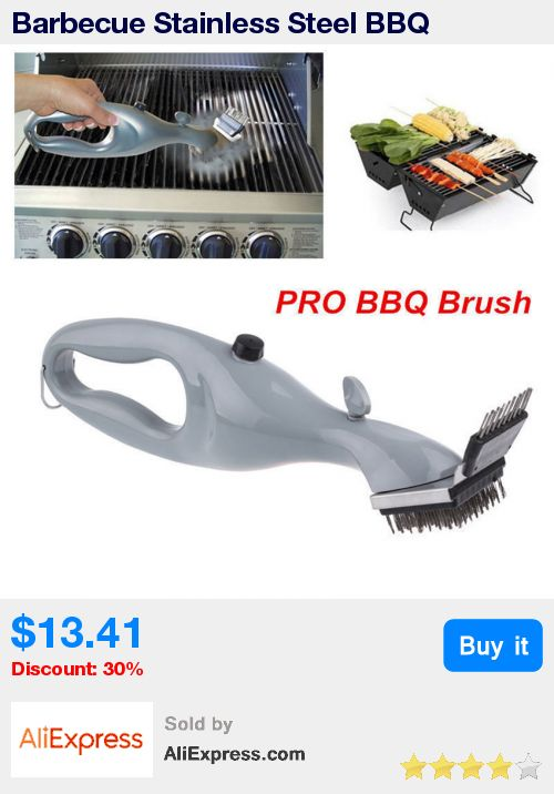 Barbecue Stainless Steel BBQ Cleaning Brush Churrasco Outdoor  Grill Cleaner with Power of Steam bbq accessories Cooking Tools * Pub Date: 05:51 Jul 2 2017